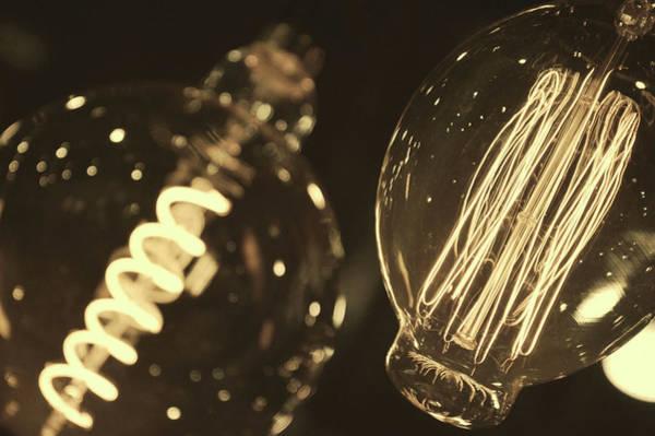 Photograph - Edison Bulbs by Jamart Photography