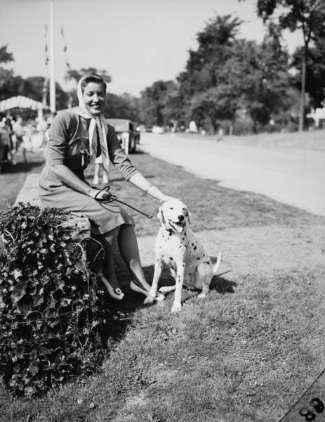 Dalmatian Dog Photograph - Edith Bouvier Beale In Better Days by Bert Morgan