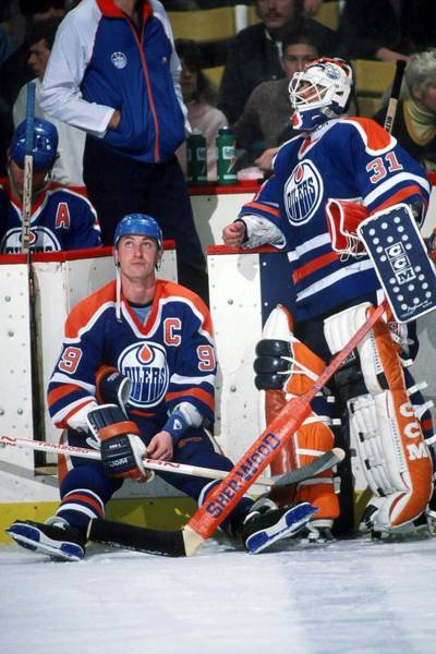Ice Hockey Photograph - Edmonton Oilers V Boston Bruins by Steve Babineau