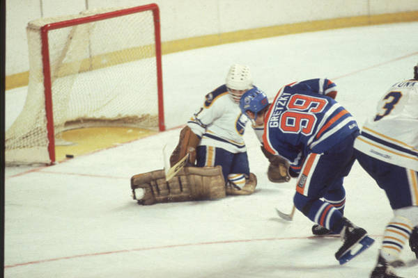 Ice Hockey Photograph - Edmonton Oilers V Buffalo Sabres by B Bennett