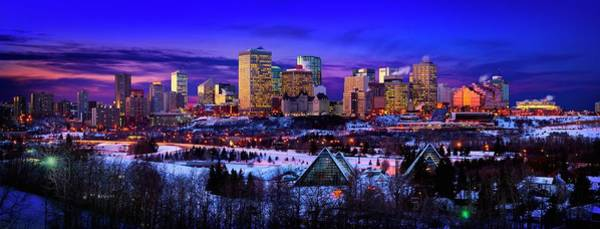 Wall Art - Photograph - Edmonton Winter Skyline by Designpics