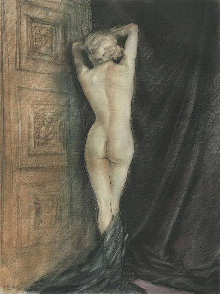Photograph - Edouard Chimot Nude In Boudoir  by Andrea Kollo