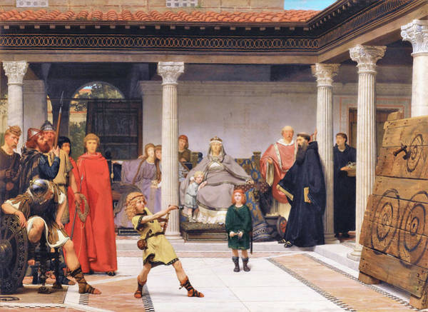 Wall Art - Painting - Education Of The Children Of Clovis - Digital Remastered Edition by Lawrence Alma-Tadema