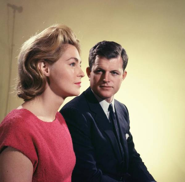 Election Photograph - Edward And Joan Kennedy by Michael Ochs Archives
