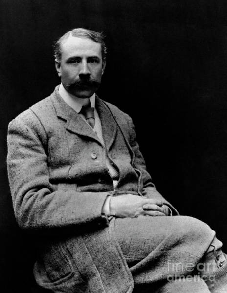 Wall Art - Photograph - Edward Elgar, At Time Of Writing Gerontius, English Composer  by English School