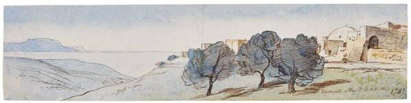 Wall Art - Painting - Edward Lear View Of Episkopi, Crete by Edward Lear