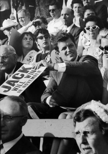 Us President Photograph - Edward M. Kennedy & Wife by Ralph Crane