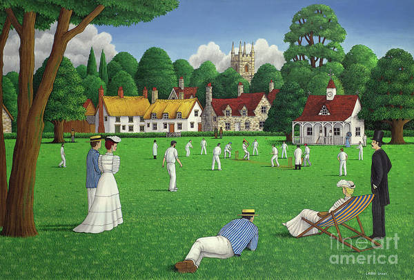 Wall Art - Painting - Edwardian Cricket by Larry Smart