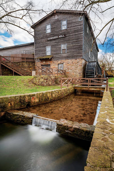 Photograph - Edwards Mill At College Of The Ozarks - Point Lookout Missouri by Gregory Ballos