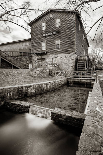 Photograph - Edwards Mill At College Of The Ozarks - Sepia Edition by Gregory Ballos