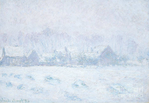 Wall Art - Painting - Effet De Neige A Giverny by Claude Monet