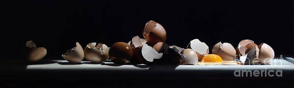 Wall Art - Painting - Egg And Shells by Lawrence Preston