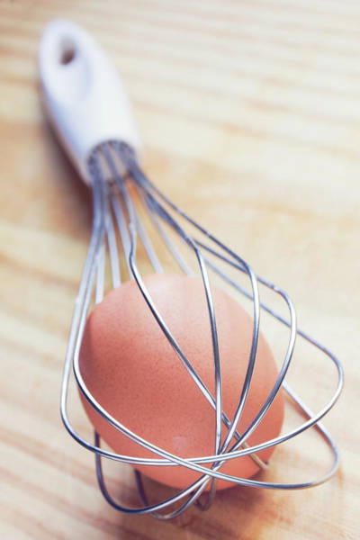 Trapped Photograph - Egg Inside Egg Whisk by Alex Bramwell