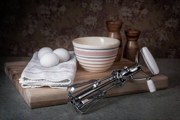 Wall Art - Photograph - Eggbeater And Eggs Still Life by Tom Mc Nemar