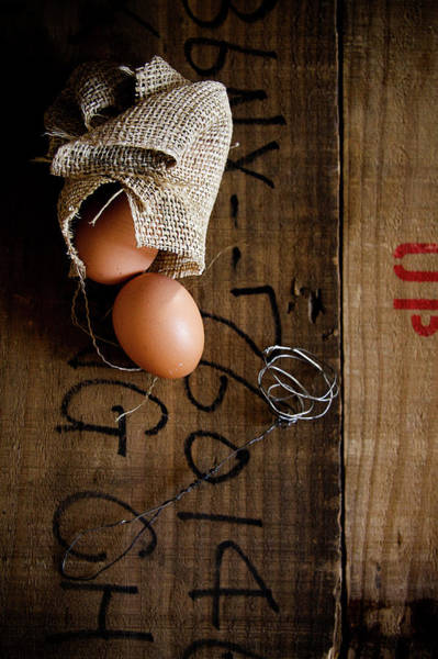 Wall Art - Photograph - Eggs And Old Wood by 200