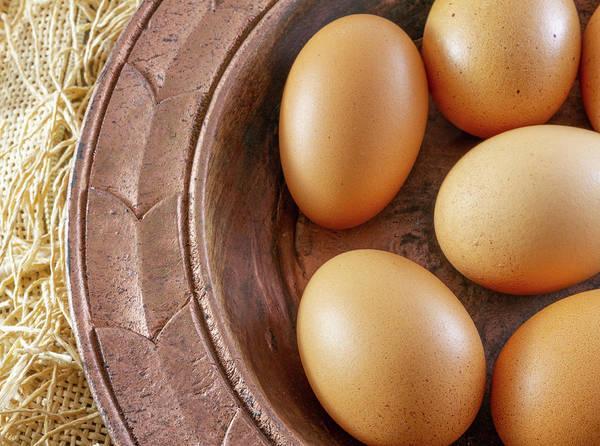 Nature Wall Art - Photograph - Eggs In Copper Plate Still Life by Iordanis Pallikaras