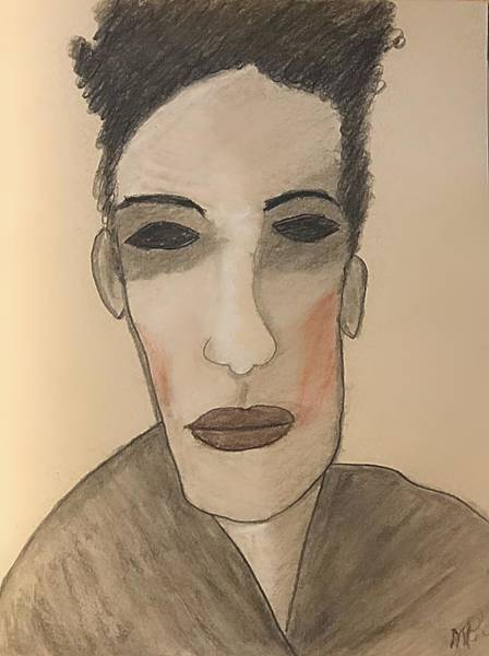 Drawing - Egon Schiele, New Wave Icon by Mario MJ Perron