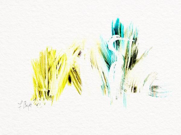 Sawgrass Digital Art - Egret Sawgrass by Frank Bright