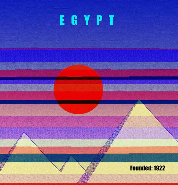 Wall Art - Mixed Media - Egypt History Poster Work A by David Lee Thompson