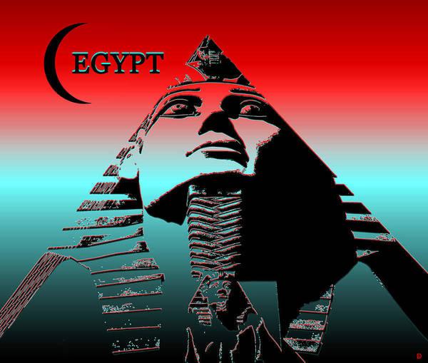 Wall Art - Digital Art - Egypt Modern Poster Work A by David Lee Thompson