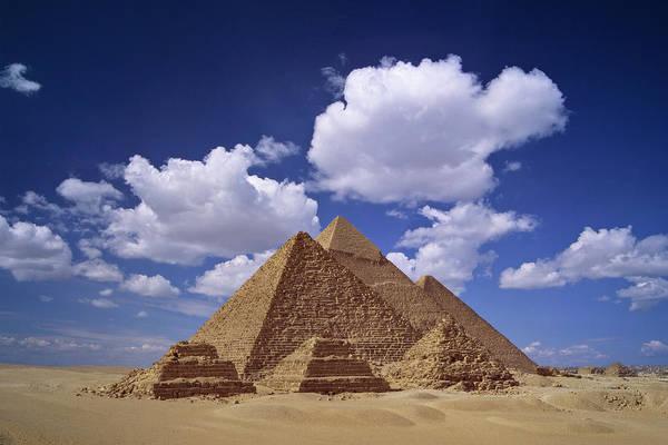Giza Photograph - Egypt, Pyramids At Giza by Daryl Benson