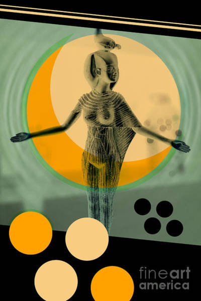 Wall Art - Photograph - Egypt Statue Retro Design Poster by Bruno Ismael Silva Alves