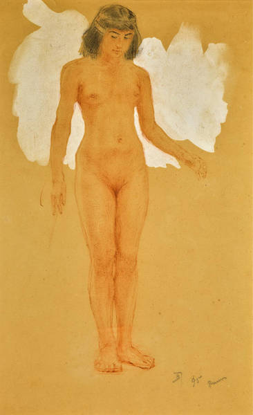 Drawing - Egyptian Figure by Vasily Dmitrievich Polenov