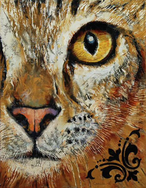 Wall Art - Painting - Egyptian Mau by Michael Creese