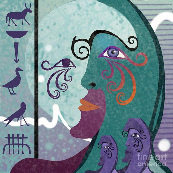 Ra Digital Art - Egyptian Picasso I by Carol Jacobs