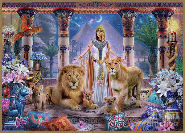 Egypt Digital Art - Egyptian Princess II. by MGL Meiklejohn Graphics Licensing