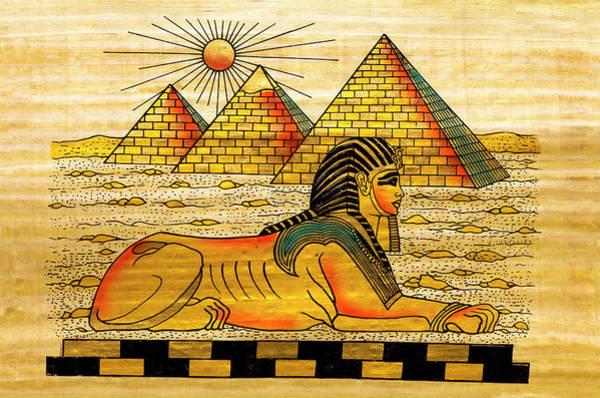 East Africa Digital Art - Egyptian Souvenir Papyrus by Ewg3d