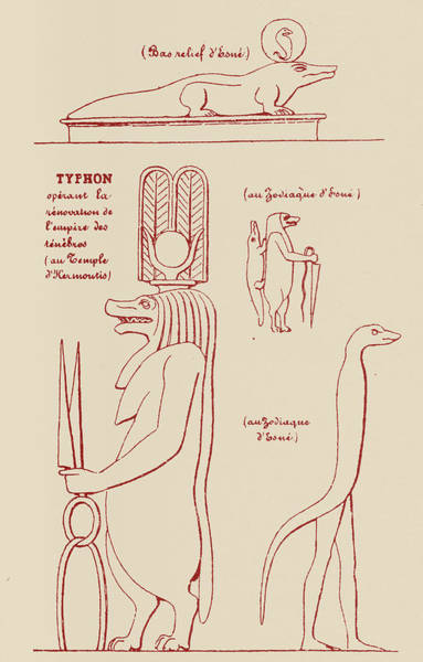 History Of Magic Drawing - Egyptian Symbols Of Typhon by Eliphas Levi