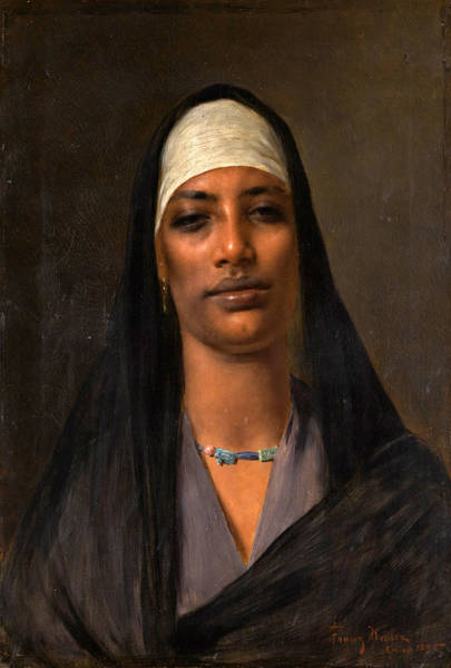 Painting - Egyptian Woman With A Lapis Necklace by Franz Kosler