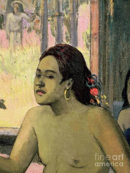 Wall Art - Painting - Eiaha Ohipa Or Tahitians In A Room, 1896, Detail by Paul Gauguin