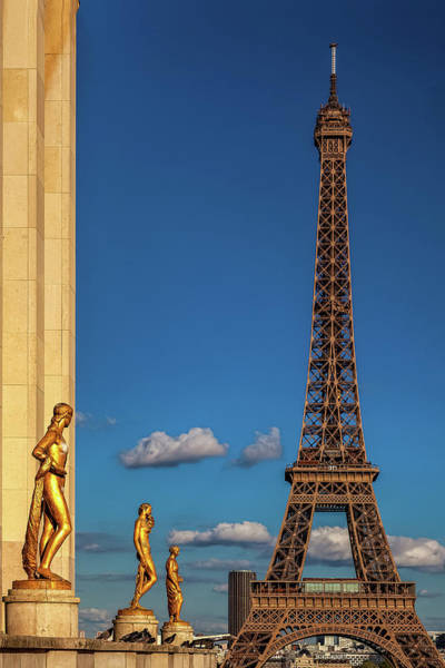 Wall Art - Photograph - Eiffel At Evening by Andrew Soundarajan