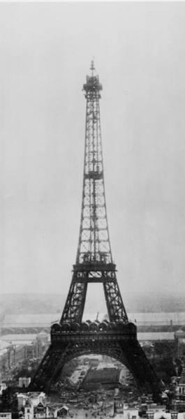 1889 Photograph - Eiffel Construction 11 by Henry Guttmann Collection