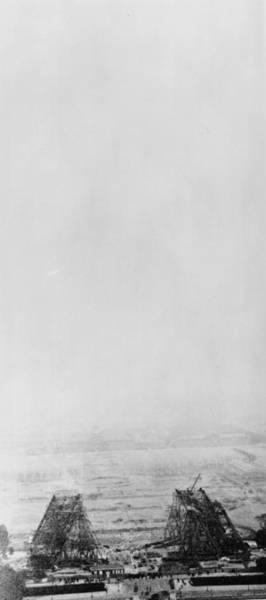 1889 Photograph - Eiffel Construction 2 by Henry Guttmann Collection