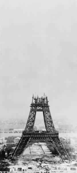 Wall Art - Photograph - Eiffel Construction 7 by Henry Guttmann Collection