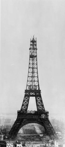 Wall Art - Photograph - Eiffel Construction 9 by Henry Guttmann