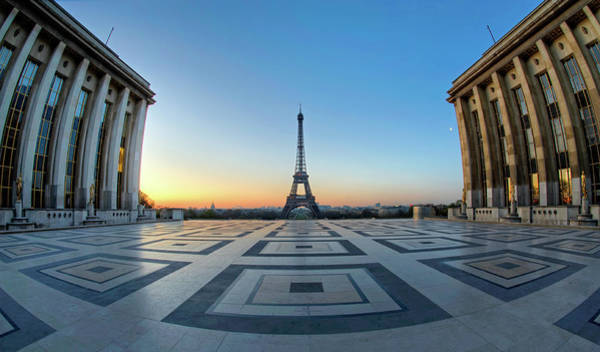 Fish Eye Lens Photograph - Eiffel Tour by Ag Photographe