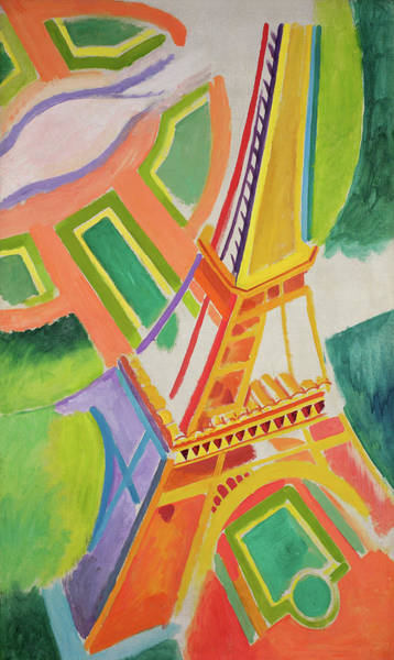 Wall Art - Painting - Eiffel Tower, 1924 by Robert Delaunay