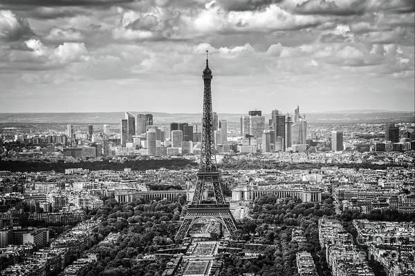 Wall Art - Photograph - Eiffel Tower And La Defense by Delphimages Photo Creations