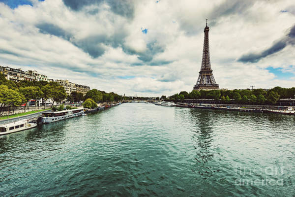 Wall Art - Photograph - Eiffel Tower And Seine River In Paris by Michal Bednarek