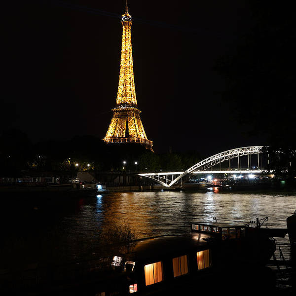Photograph - Eiffel Tower At Night 6 by Andrew Fare