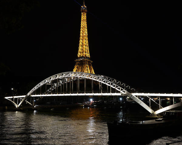 Photograph - Eiffel Tower At Night 7 by Andrew Fare