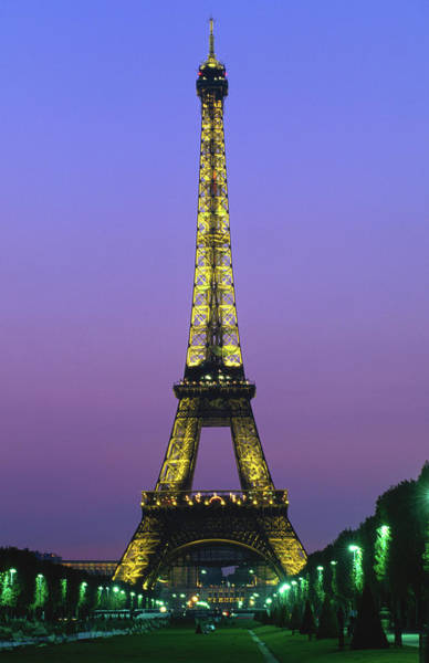 Belgian Culture Photograph - Eiffel Tower At Night by John Hay