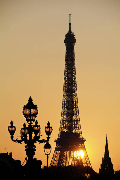Photograph - Eiffel Tower At Sunset by Jean Marc Romain