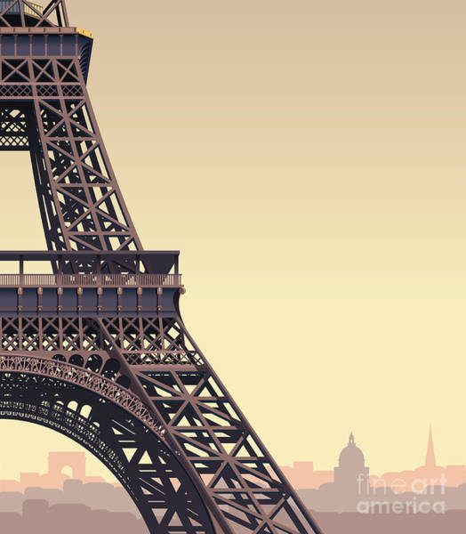Wall Art - Digital Art - Eiffel Tower At Sunset by Nikola Knezevic