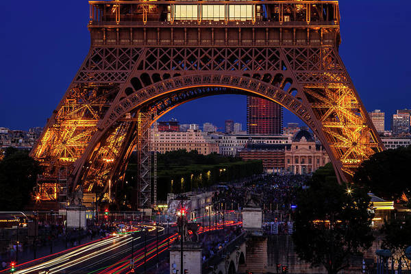Wall Art - Photograph - Eiffel Tower At Twilight by Andrew Soundarajan