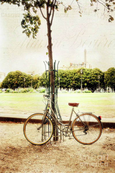 Photograph - Eiffel Tower Bicycle by Craig J Satterlee